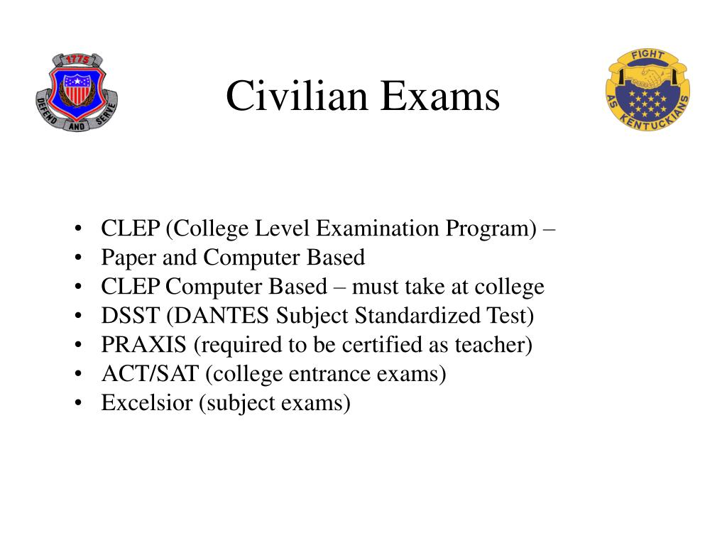 Civilian Exams