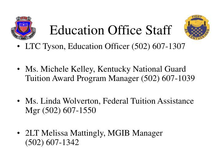 Education office staff