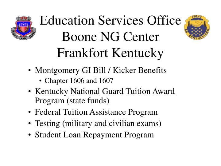 Education services office boone ng center frankfort kentucky