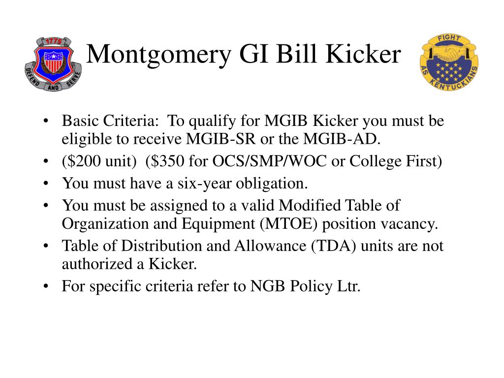 Montgomery GI Bill Kicker