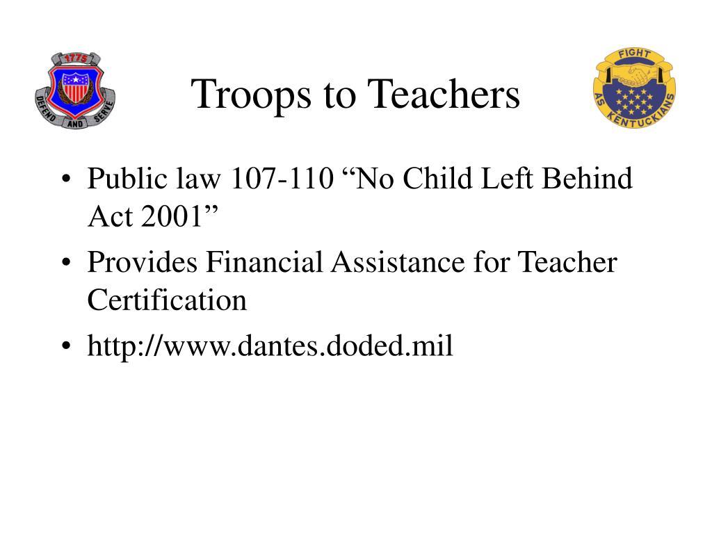 Troops to Teachers