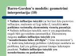 barro gordon o modelis geometrin interpretacija 10