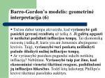 barro gordon o modelis geometrin interpretacija 6