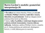 barro gordon o modelis geometrin interpretacija 8