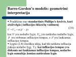 barro gordon o modelis geometrin interpretacija