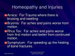 homeopathy and injuries52