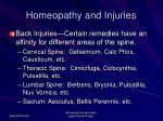 homeopathy and injuries53