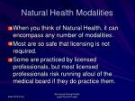 natural health modalities