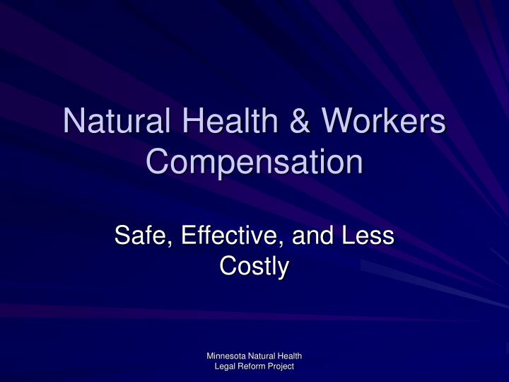 natural health workers compensation n.