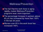 wellness prevention
