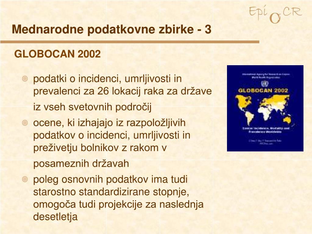 Mednarodne podatkovne zbirke - 3