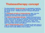 thalassotherapy concept