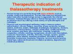 therapeutic indication of thalassotherapy treatments