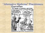 alternative medicine practitioners
