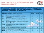 level 3 nvq diploma in combined hair types hairdressing 3008 07