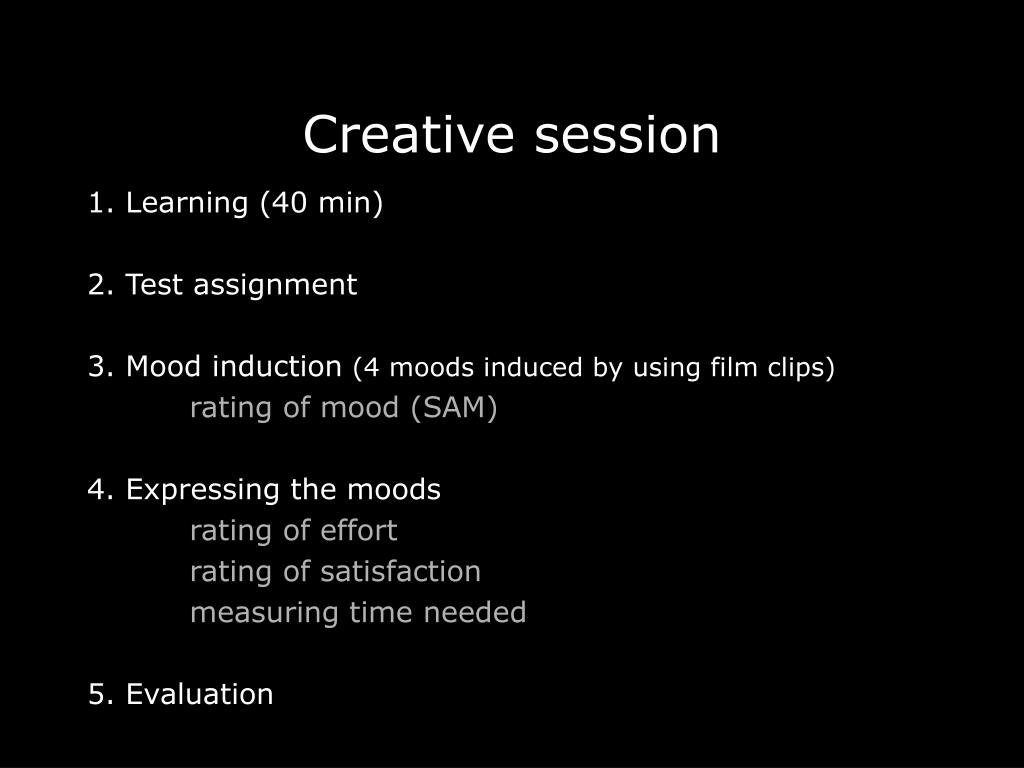 Creative session