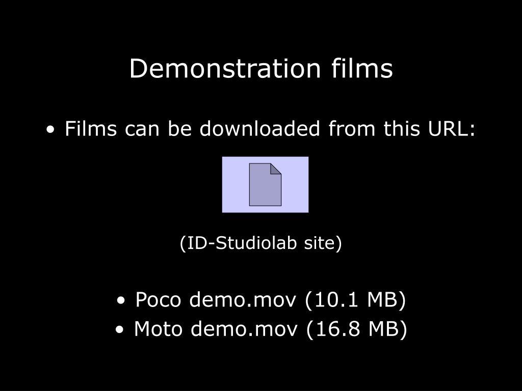 Demonstration films