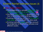extreme rainfall estimation issues 3