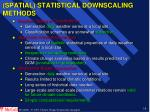 spatial statistical downscaling methods