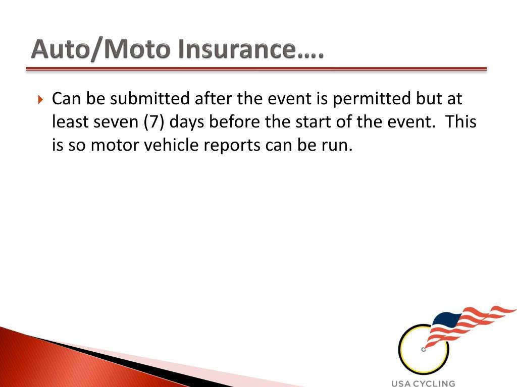 Auto/Moto Insurance….