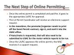 the next step of online permitting