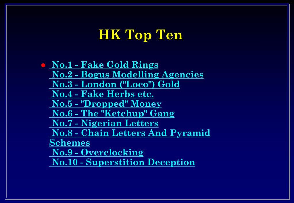 HK Top Ten
