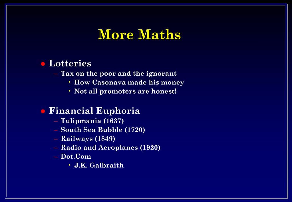 More Maths