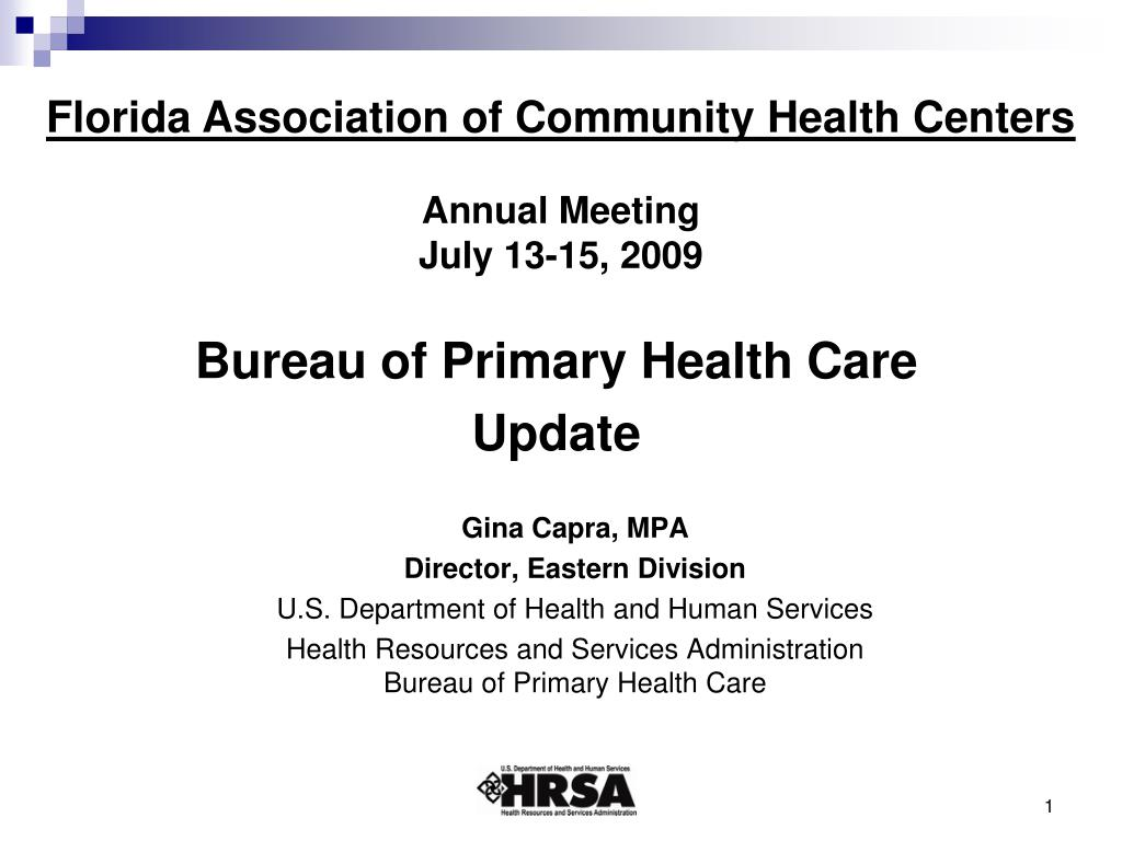 PPT - Bureau of Primary Health Care Update PowerPoint ...