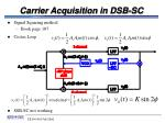 carrier acquisition in dsb sc
