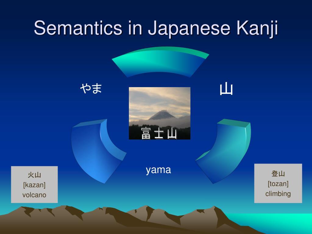 semantics in japanese kanji l.