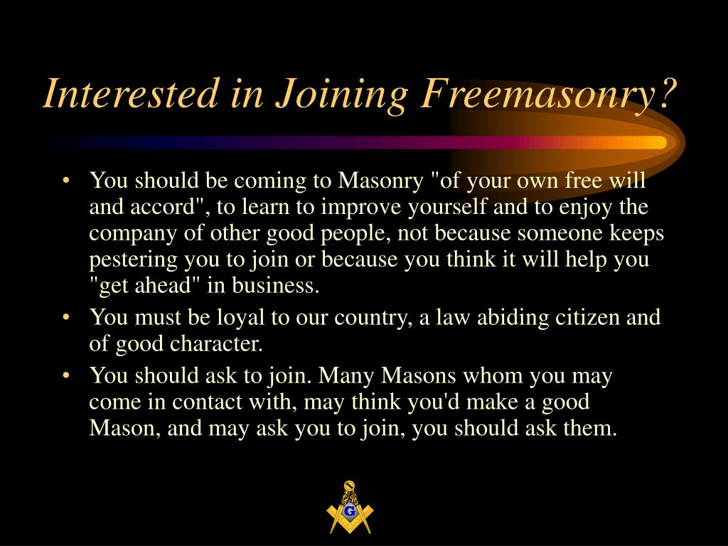 Interested in Joining Freemasonry?
