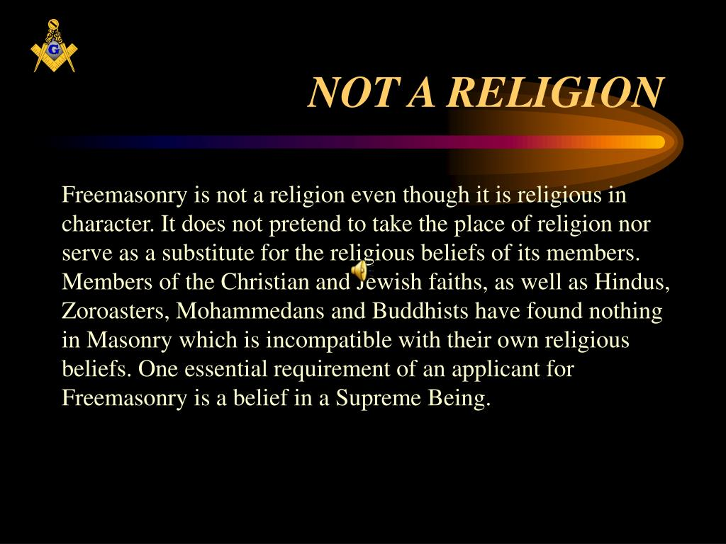 NOT A RELIGION