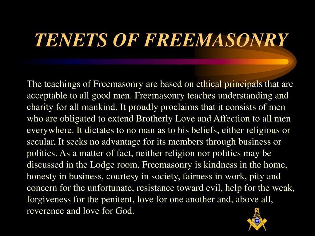 TENETS OF FREEMASONRY