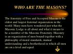 who are the masons