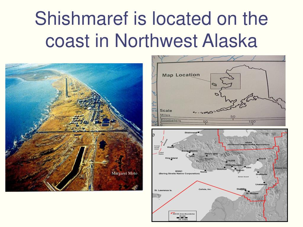 Shishmaref is located on the coast in Northwest Alaska