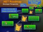 net roadmap developer perspective