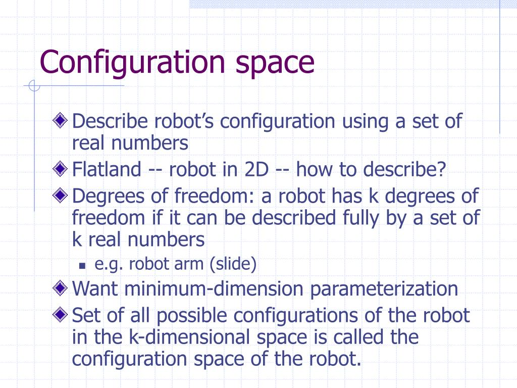 Configuration space
