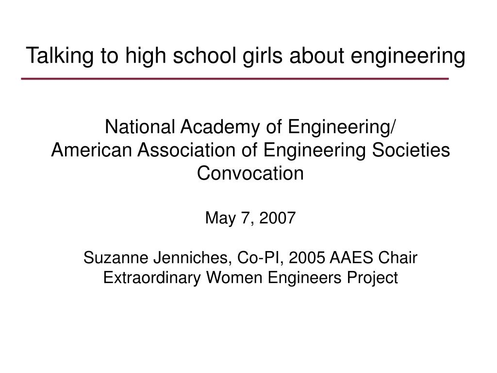 Talking to high school girls about engineering