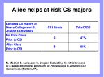 alice helps at risk cs majors34