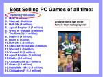 best selling pc games of all time