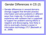 gender differences in cs 2