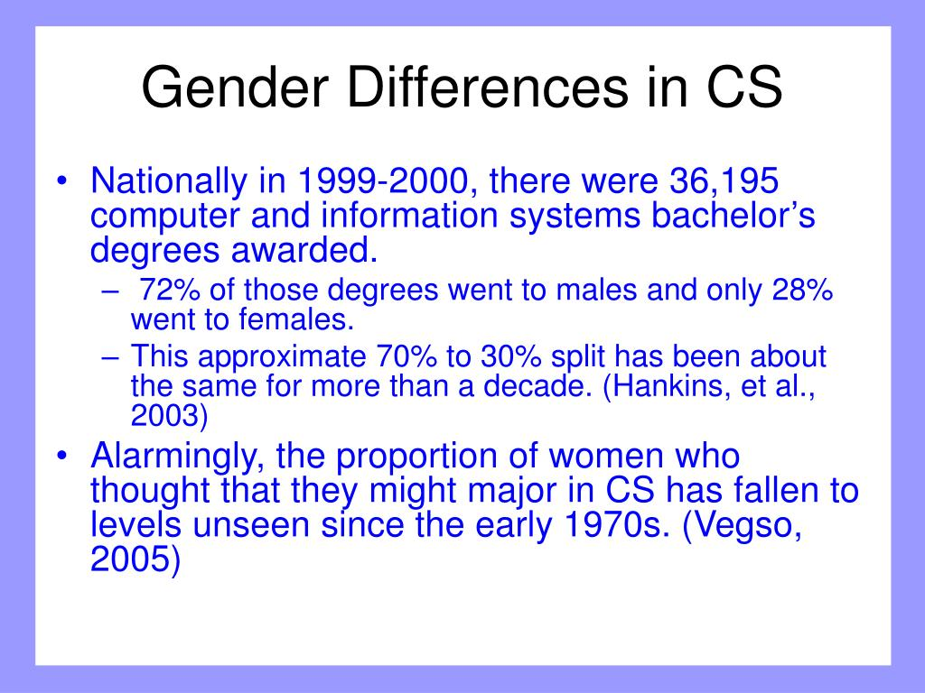 Gender Differences in CS