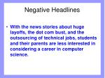 negative headlines
