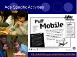age specific activities4