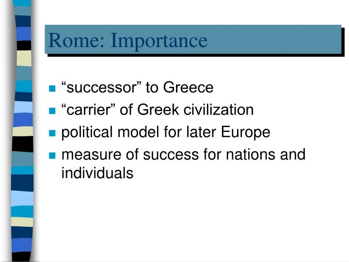 rome importance n.