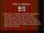role of athletics