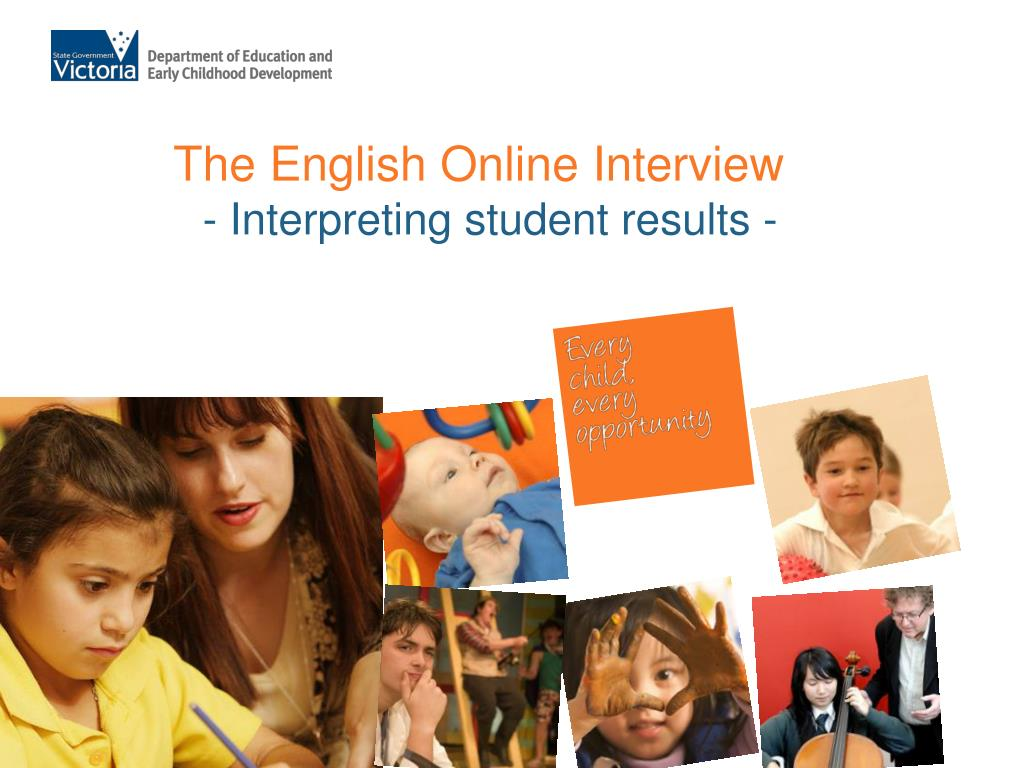 the english online interview interpreting student results l.