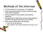 methods of the interview