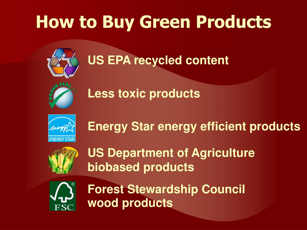 How to Buy Green Products