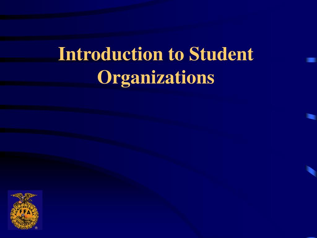 introduction to student organizations l.